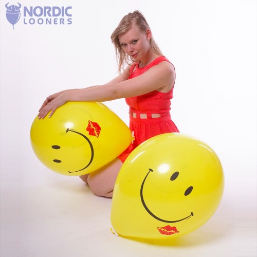"Qualatex 16\"" Smile And A Kiss 4,09 DKK #42763 Nordic Looners"