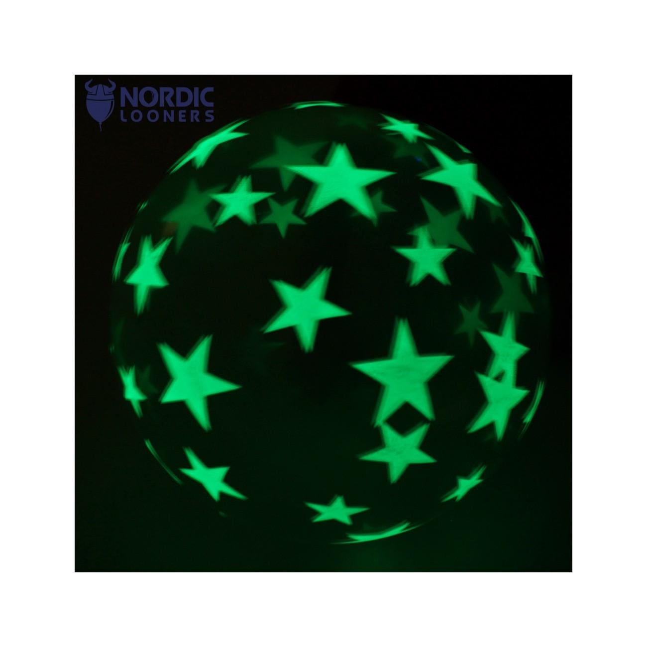 "Qualatex 36\\"" Stars glows in the dark #28154 87,42 DKK Nordic Looners"