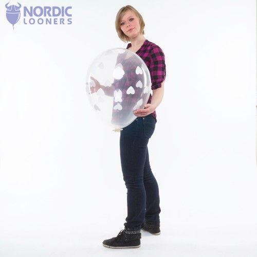 "Qualatex 18\"" Big Hearts 5,80 DKK #38459 Nordic Looners"