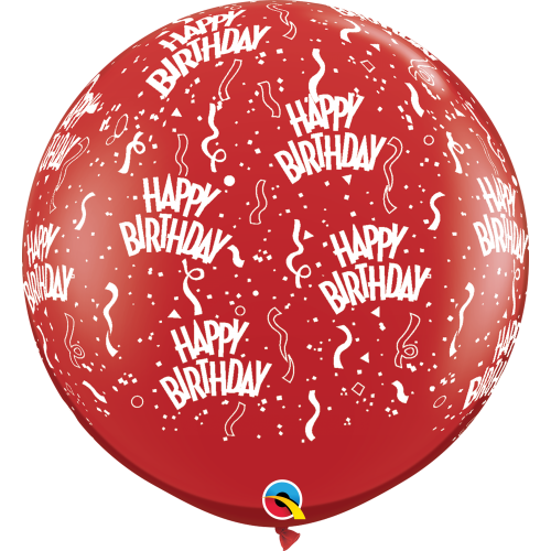 "Qualatex 36"" Birthday-A-Round"