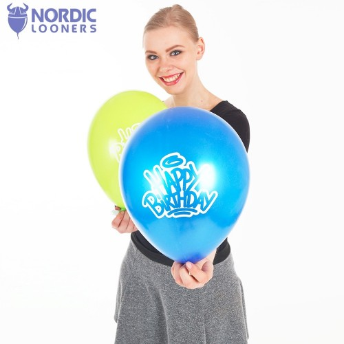 "Cattex 12\"" Happy Birthday 0,93 DKK PT110.C0501 Nordic Looners"
